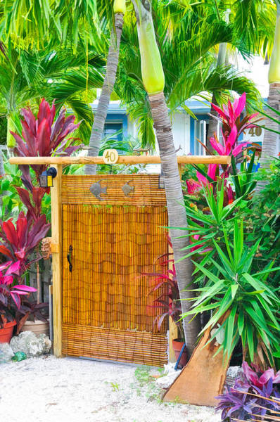 Photograph - Conch Key Wicker Gate 2 by Ginger Wakem