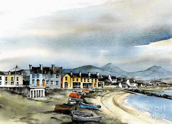 Painting - Wicklow... Greystones Harbour Remembered by Val Byrne