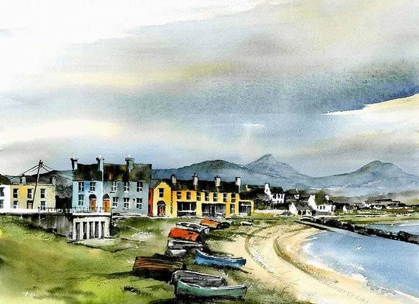 Painting - Wicklow.... Greystones Original Beach by Val Byrne