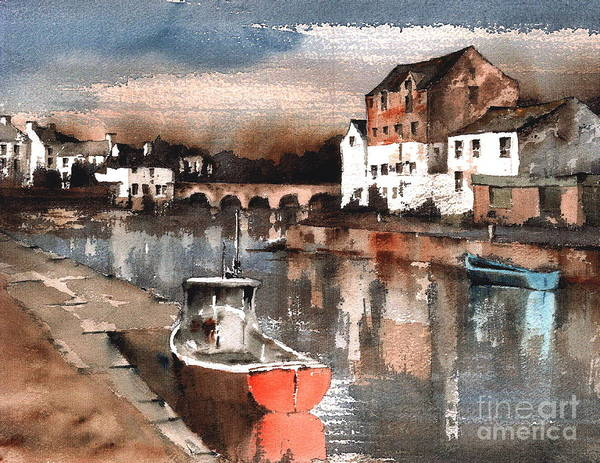 Painting -  F 825 Wicklow... Harbour by Val Byrne