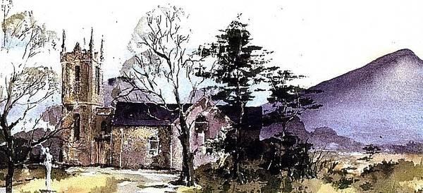 Painting - Wicklow.... Kilmcacanoge Under The Sugarloaf. by Val Byrne