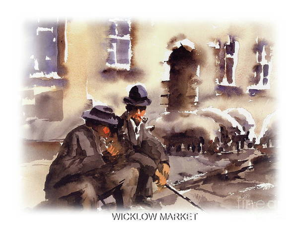 Painting - Wicklow  Rathdrum......bygone Market by Val Byrne