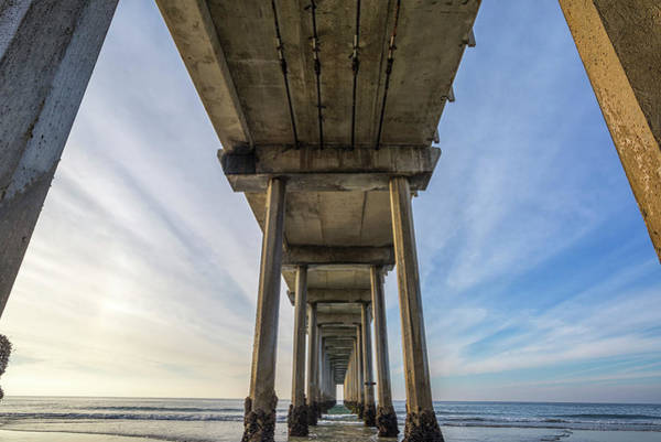 Scripps Pier Photograph - Wide Angle by Joseph S Giacalone