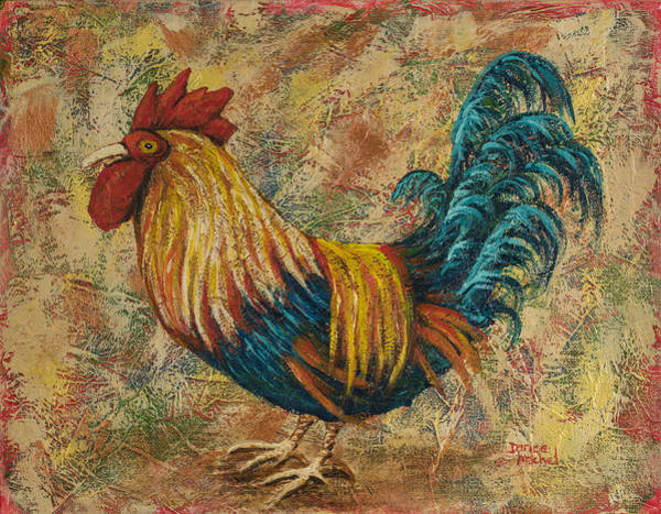 Painting - Wide Eye Rooster by Darice Machel McGuire