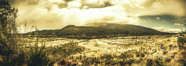 Grassland Photograph - Wide Open Tasmania Countryside by Jorgo Photography - Wall Art Gallery