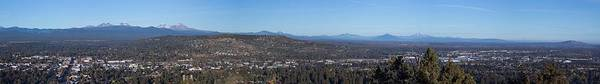 Central Oregon Photograph - Wide Panorama Of Bend Oregon by Twenty Two North Photography