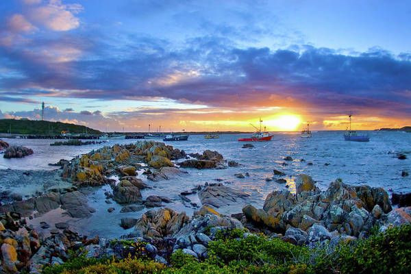 Wall Art - Photograph - wide view of Currie harbour, King Island, Tasmania, 03.25.08 by Sean Davey