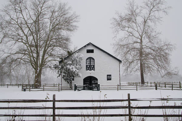 Photograph - Widener Horse Farm In The Snow by Bill Cannon