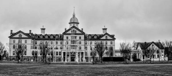 Photograph - Widener University - Chester Pa - Old Main In Black And White by Bill Cannon