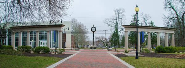 Photograph - Widener University Clock Panorama by Bill Cannon