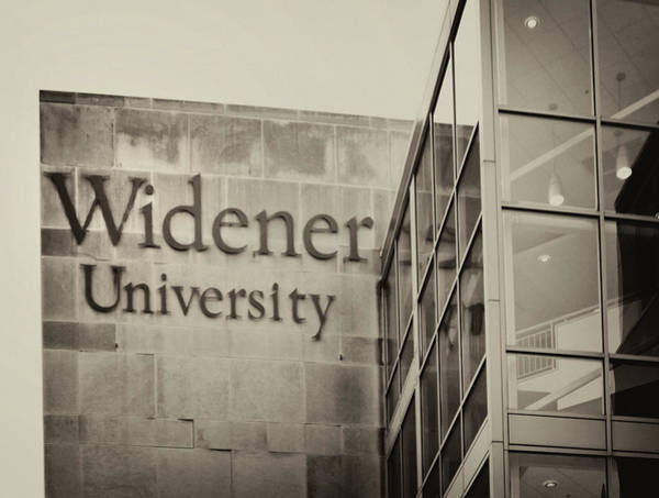 Photograph - Widener University - Metropoliton Hall In Sepia by Bill Cannon