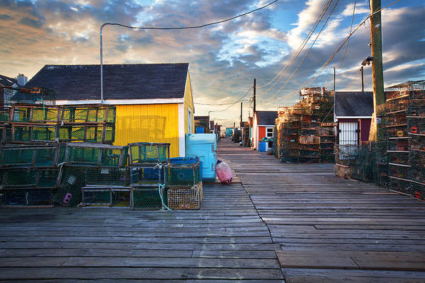 Wall Art - Photograph - Widgery Wharf Portland Sunrise by Eric Gendron