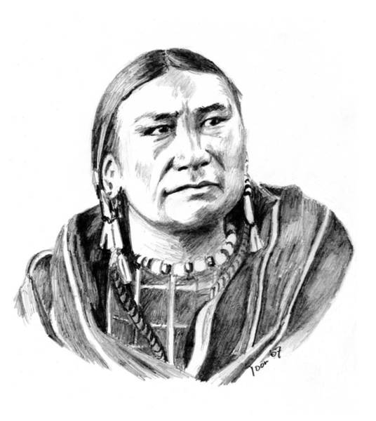 Drawing - Wife Of Eagle Man by Toon De Zwart