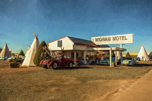 Painting - Wigwam Motel by Lou Novick