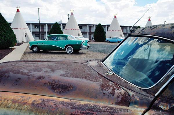 Photograph - Wigwam Motel Route 66 Classic Car by Kyle Hanson