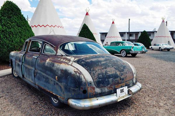 Photograph - Wigwam Motel Route 66 Classic Cars by Kyle Hanson