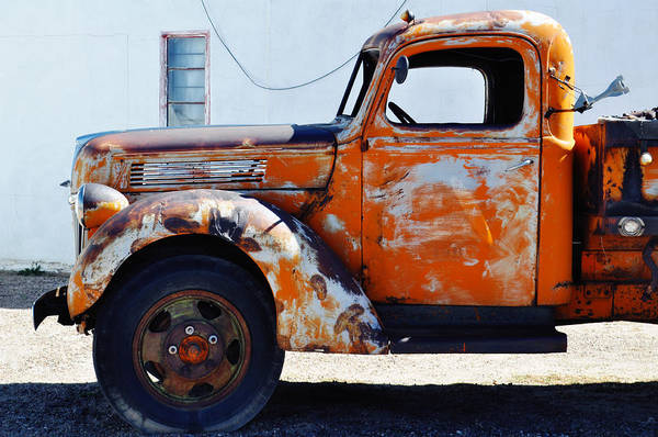 Photograph - Wigwam Motel Route 66 Orange Ford by Kyle Hanson