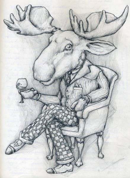 Wall Art - Drawing - Wilcoxmoose by Alexander M Petersen
