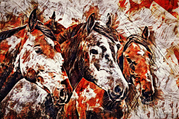 Art Print featuring the painting Wild And Free by Lita Kelley