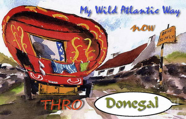 Painting - Wild Atlantic Way .... Donegal by Val Byrne