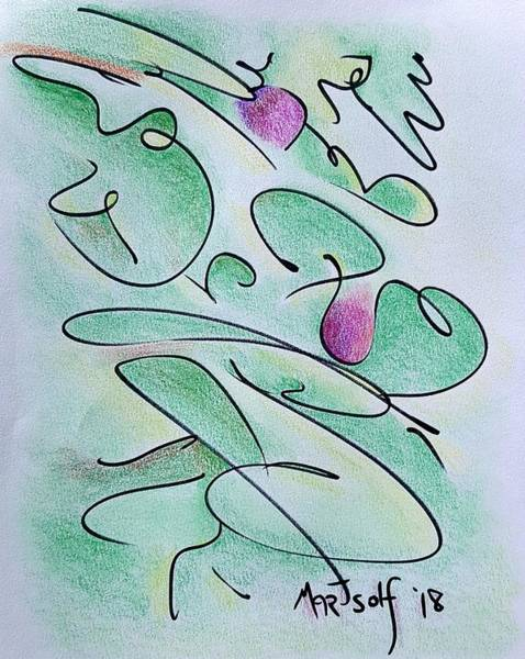Drawing - Wild Berries by Dave Martsolf