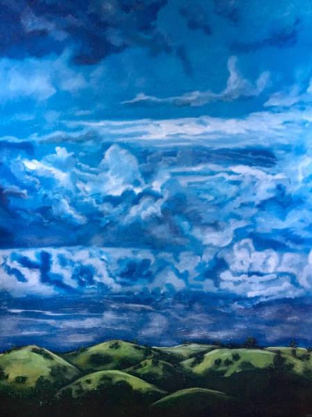Painting - Wild Blue by Joel Tesch
