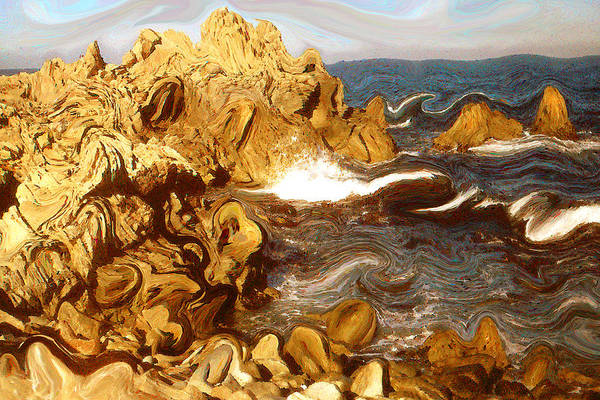 Painting - Wild California Coast - Modern Art by Peter Potter