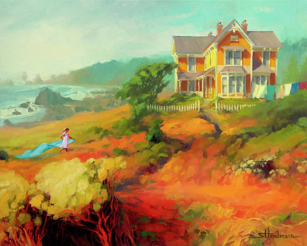 Oregon Coast Wall Art - Painting - Wild Child by Steve Henderson