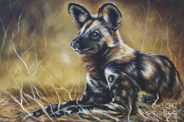 Wall Art - Painting - Wild Dog by Ilse Kleyn