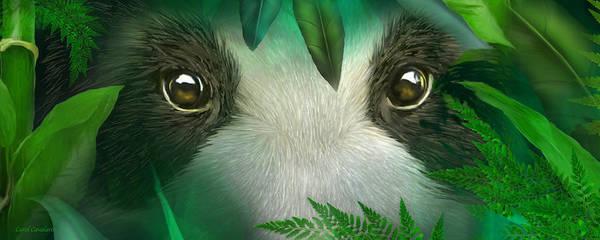 Mixed Media - Wild Eyes - Giant Panda by Carol Cavalaris