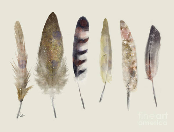 Feather Painting - Wild Feathers  by Bri Buckley