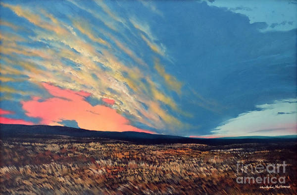 Painting - Wild Fire Sky by Christopher Shellhammer