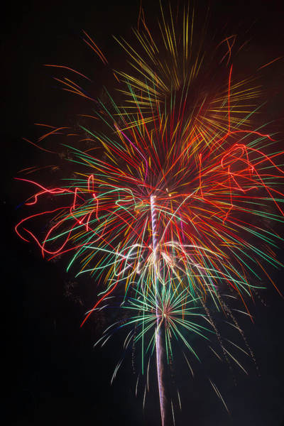 Dazzle Wall Art - Photograph - Wild Fireworks by Garry Gay