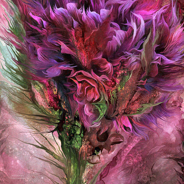 Mixed Media - Wild Flower 3 - Organica by Carol Cavalaris