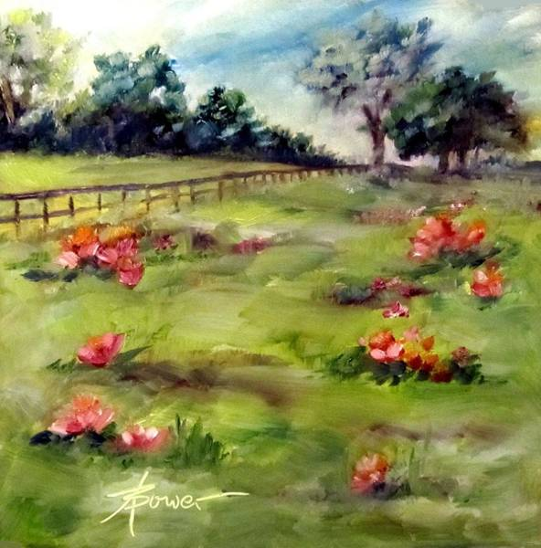 Painting - Texas Wild Flower Road Trip  by Adele Bower