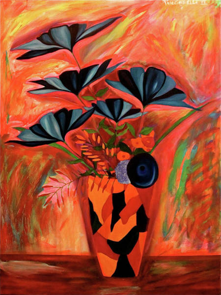 Painting - Wild Flowers  A Still Life  by Iconic Images Art Gallery David Pucciarelli