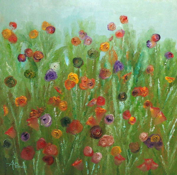 Painting - Wild Flowers Abstract by Angeles M Pomata