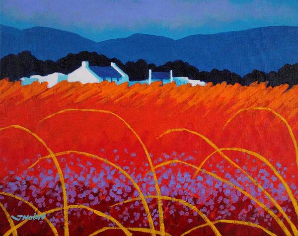 Wall Art - Painting - Wild Flowers County Wicklow by John  Nolan