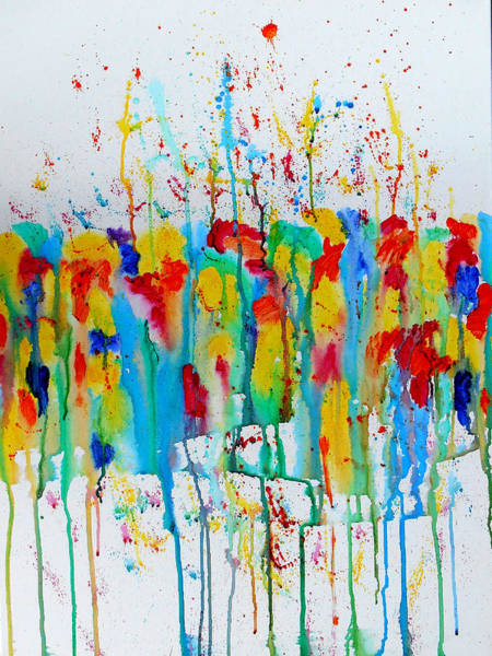 Wall Art - Painting - Wild Flowers by Leon Zernitsky