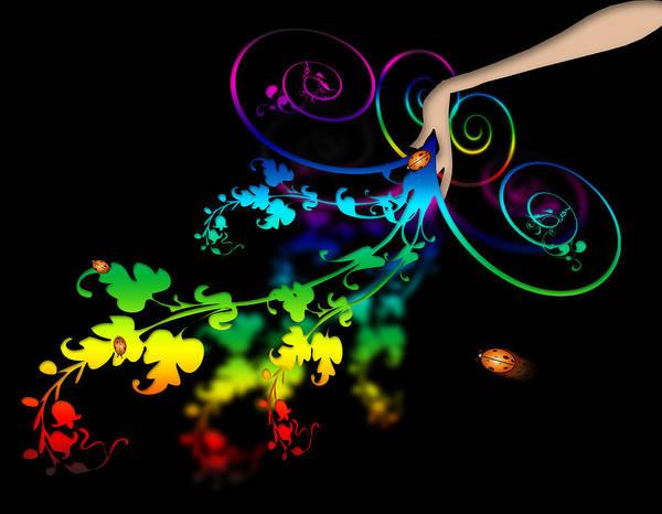 Blue Bug Digital Art - Wild Flowers by Svetlana Sewell