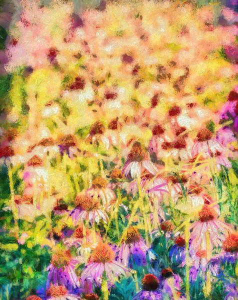 Coneflower Painting - Wild Garden by Dan Sproul
