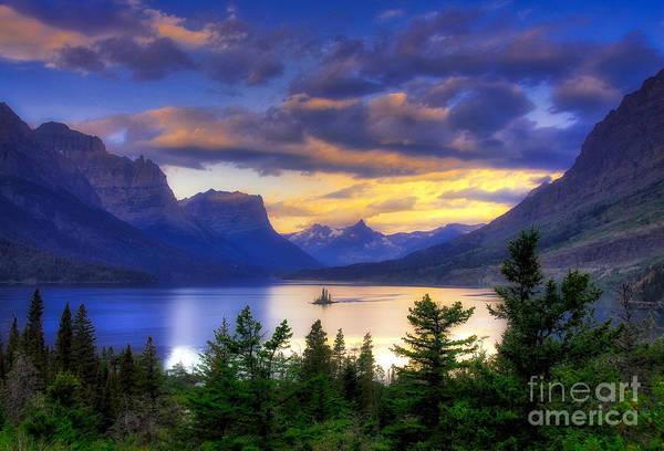 Glacier National Park Photograph - Wild Goose Island by Mel Steinhauer