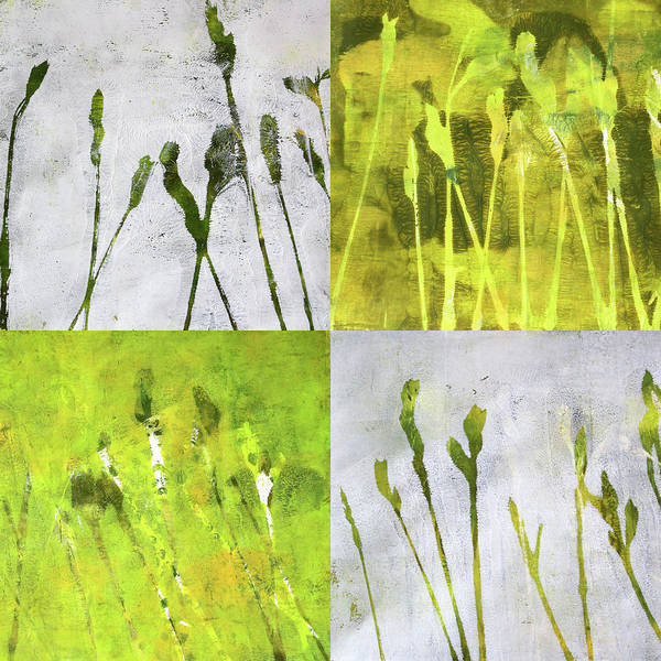 Prairie Grass Painting - Wild Grass Collage 1 by Nancy Merkle