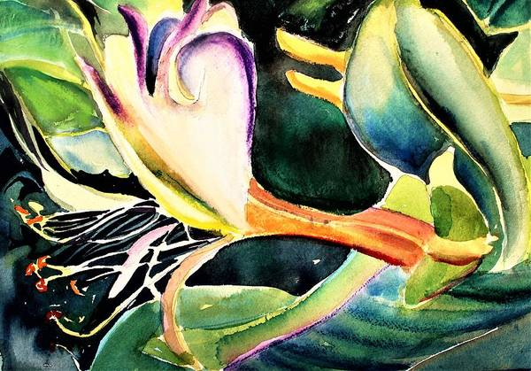Wall Art - Painting - Wild Honeysuckle by Mindy Newman