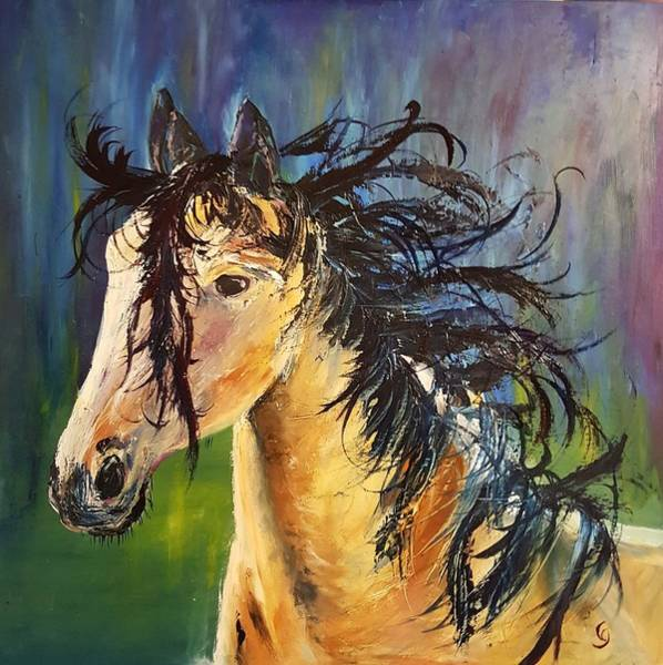 Painting - Wild Horse       21 by Cheryl Nancy Ann Gordon