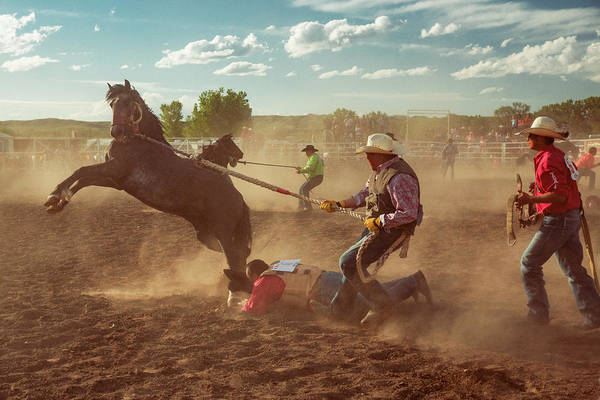 Photograph - Wild Horse Race by Todd Klassy