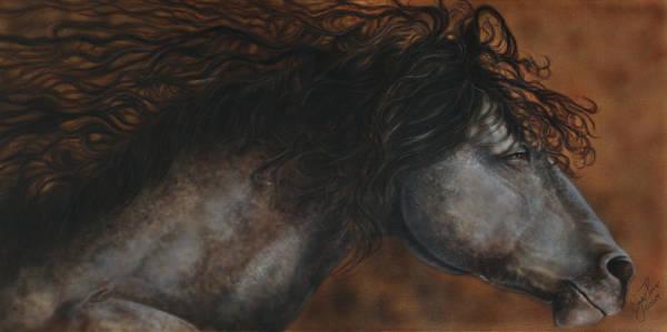North Dakota Painting - Wild Horse Running by Wayne Pruse