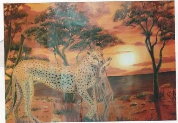 It Professional Painting - Wild Hunters by Samuel Waithaka