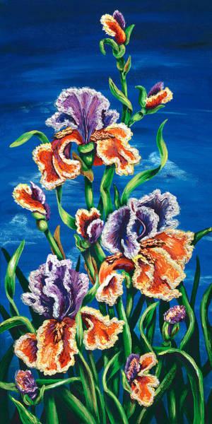 Painting - Wild Iris by Lori Sutherland