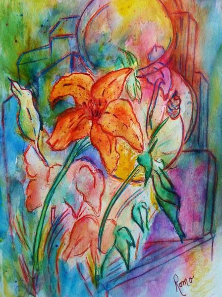 Romo Painting - Wild Lily by Robin Monroe